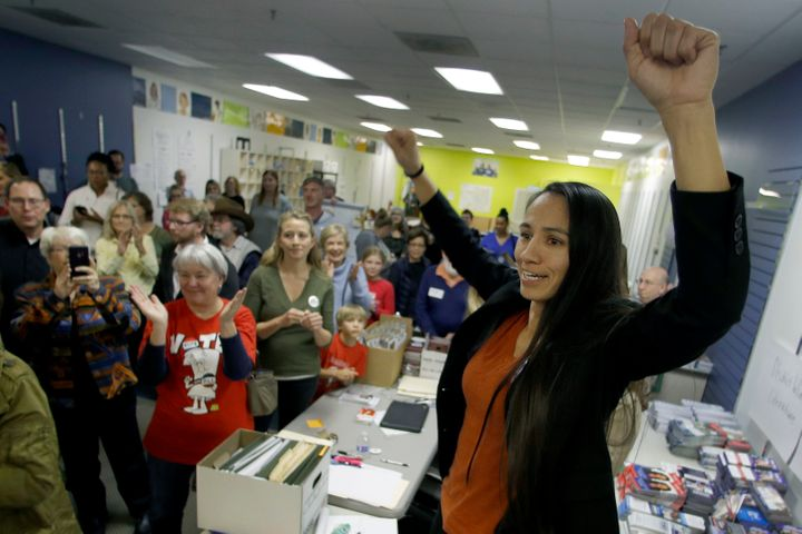 Sharice Davids has another uncommon qualification for politics: her experience in mixed martial arts.