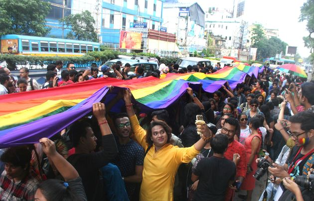 Indians celebrate the Supreme Court decision to strike down a colonial-era ban on homosexuality