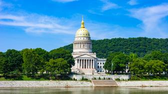 The State Capitol of West Virginia on a sunny day.