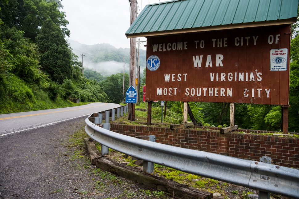The decline of coal production started a downward spiral in War, West Virginia.