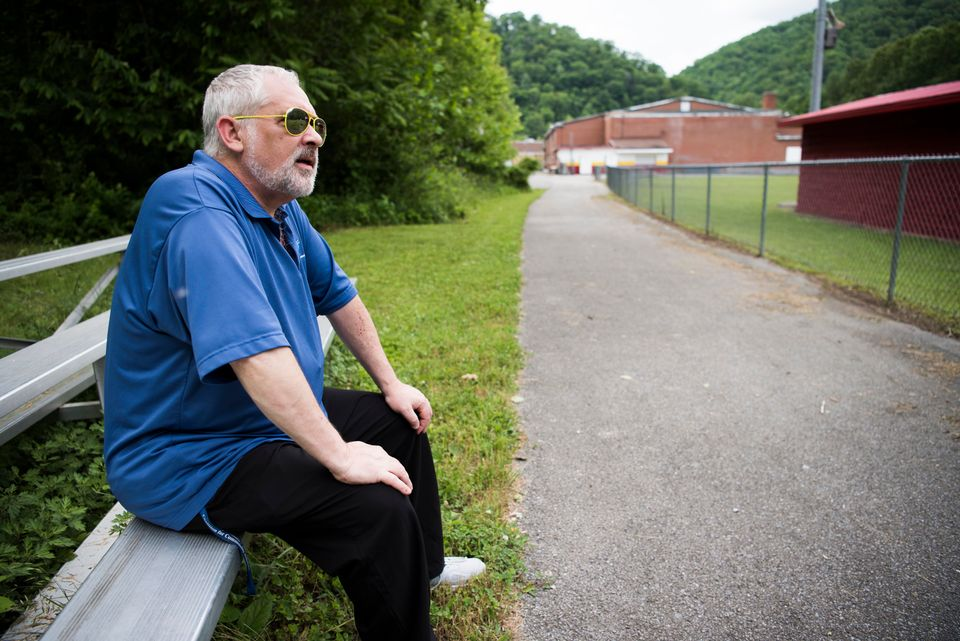 Teacher Greg Cruey keeps track mentally of where all his students are living and in what
