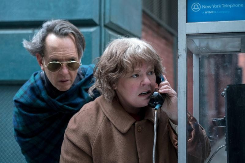 "Melissa McCarthy (right) and Richard E. Grant star in ""Can You Ever Forgive Me?"""