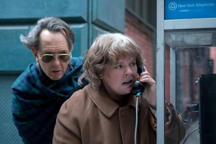 """I wanted to look at the heart of why she did troubling things,"" Melissa McCarthy (right, with co-star Richard E. Grant)"
