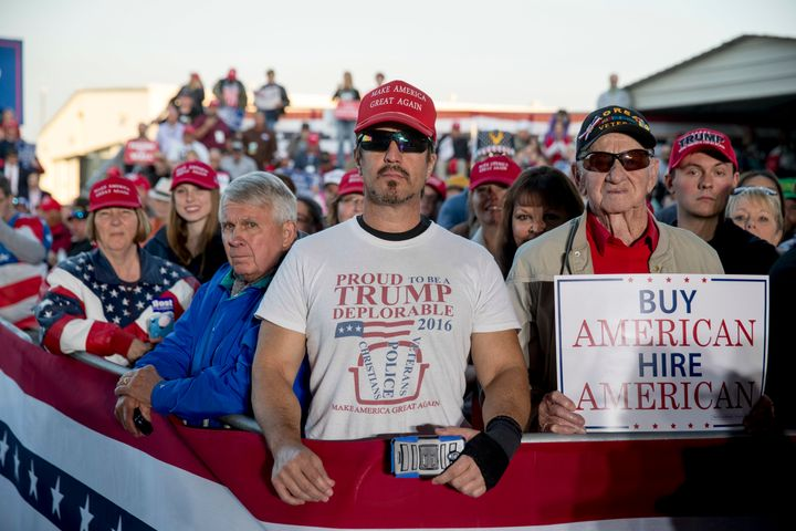Supporters pack President Donald Trump's rally in Murphysboro, Illinois, on Saturday.
