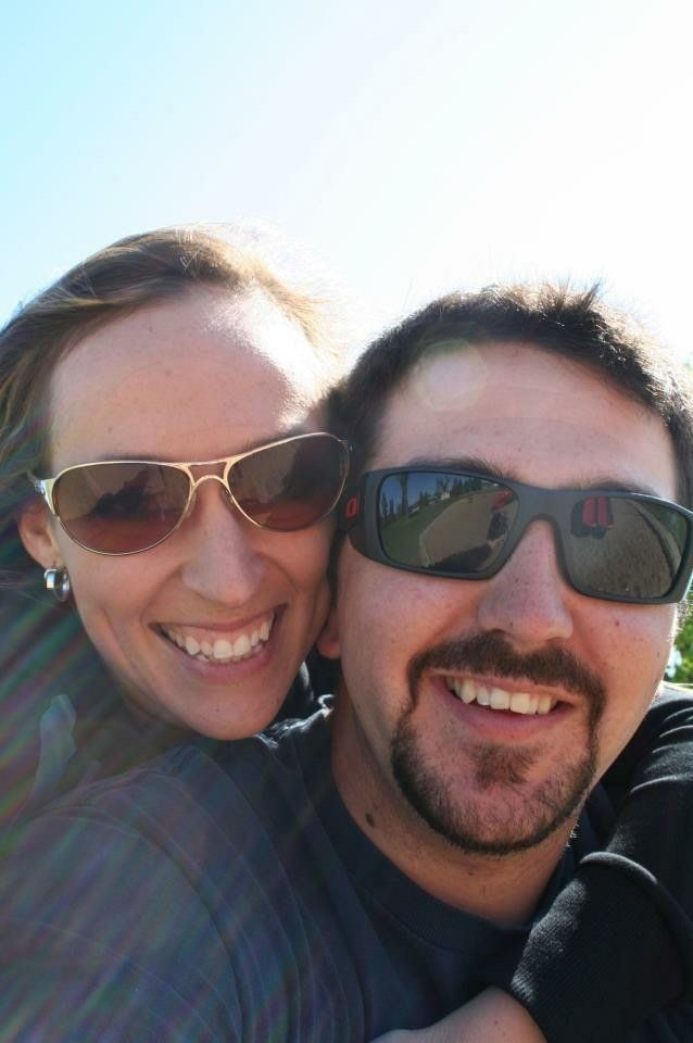 The first picture the couple ever took together, in 2012. On one of their first dates, Ben revealed he had been addicted to meth, though he was several months clean at the time.