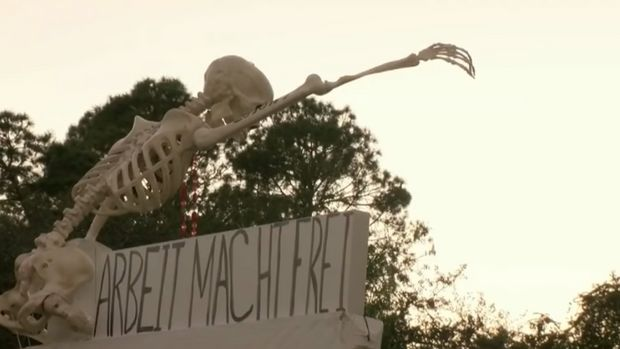 Florida woman causes furor with Nazi-themed Halloween decorations