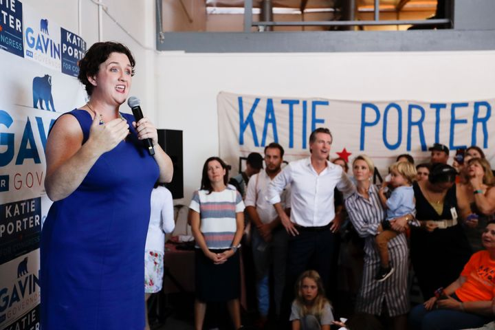 Katie Porter, who's running against incumbent Republican Mimi Walters in Orange County, is one of a handful of Democrats who'
