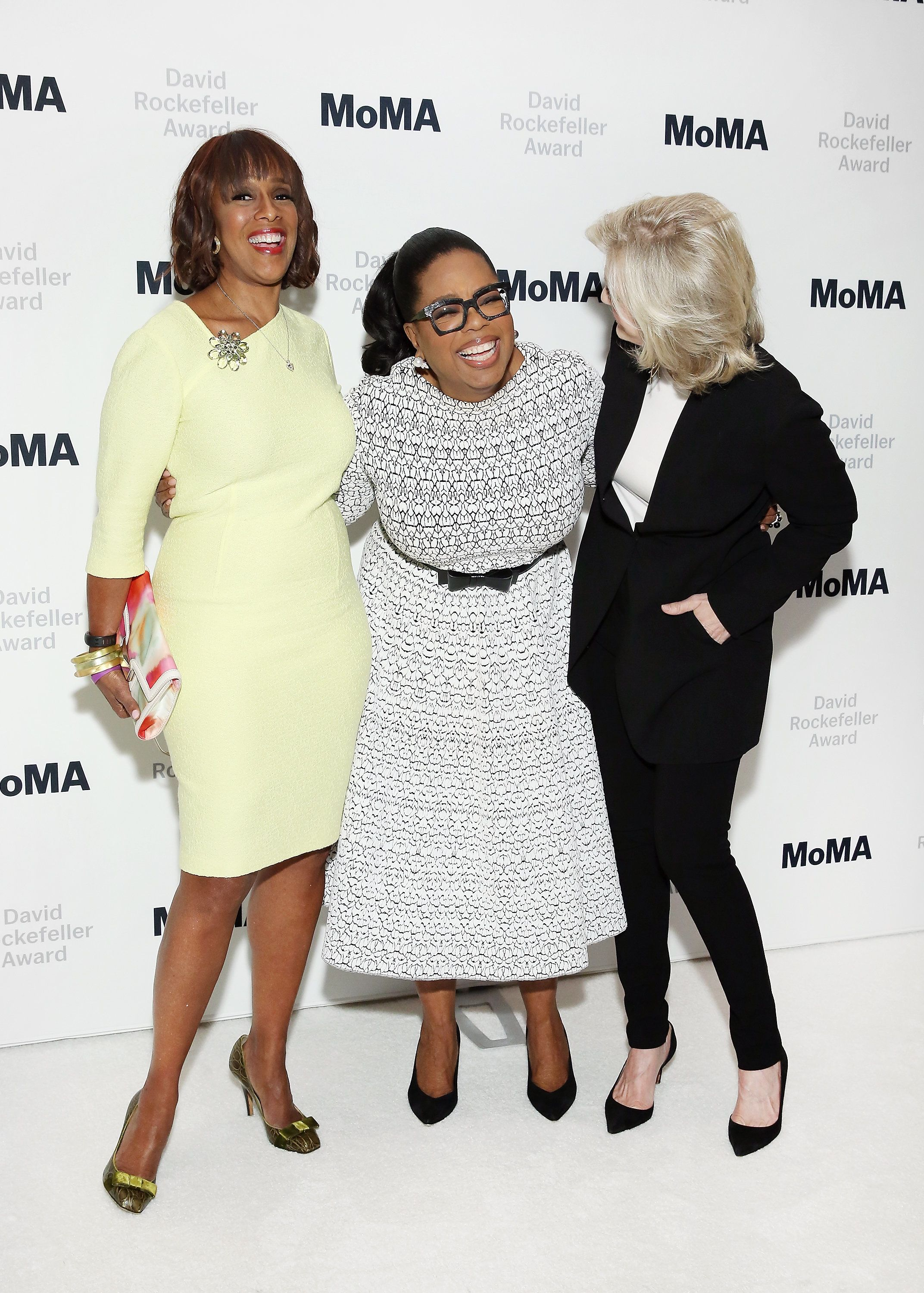 NEW YORK, NY - MARCH 06:  (L-R) Gayle King, honoree Oprah Winfrey and Diane Sawyer attend The Museum of Modern ArtÕs 2018 David Rockefeller Award Luncheon at The Ziegfeld Ballroom on March 6, 2018 in New York City.  (Photo by Monica Schipper/Getty Images)