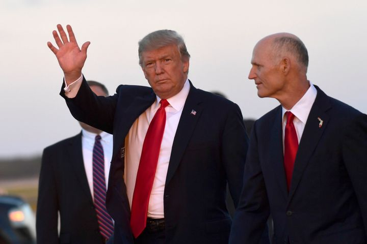 President Donald Trump came to Florida to back Rick Scott's bid for the Senate.