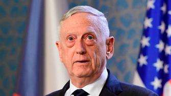 US Secretary of Defence James Mattis addresses a press conference on October 28, 2018 in Prague. - Mattis arrived in the Czech Republic marking the 100th anniversary of the creation of the independent Czechoslovak state in 1918. (Photo by Stringer / AFP)        (Photo credit should read STRINGER/AFP/Getty Images)