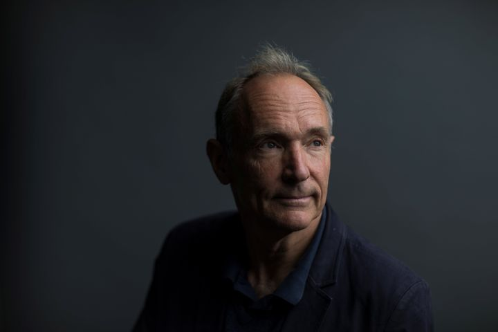 World Wide Web founder Tim Berners-Lee poses for a photograph following a speech at the Mozilla Festival 2018 in London, Brit