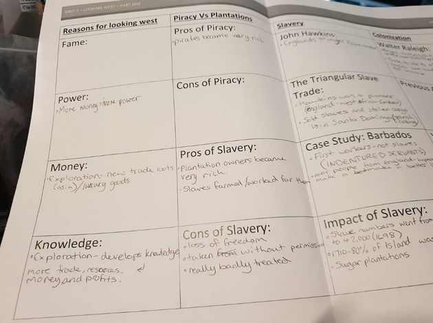 This School Asked Students To List The 'Pros' Of Slavery As