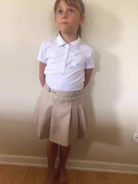 """Bonnie Peltier's daughter, identified as """"A.P."""" in legal documents, is suing her public school, seeking the right to wear pants as part of the school's uniform."""