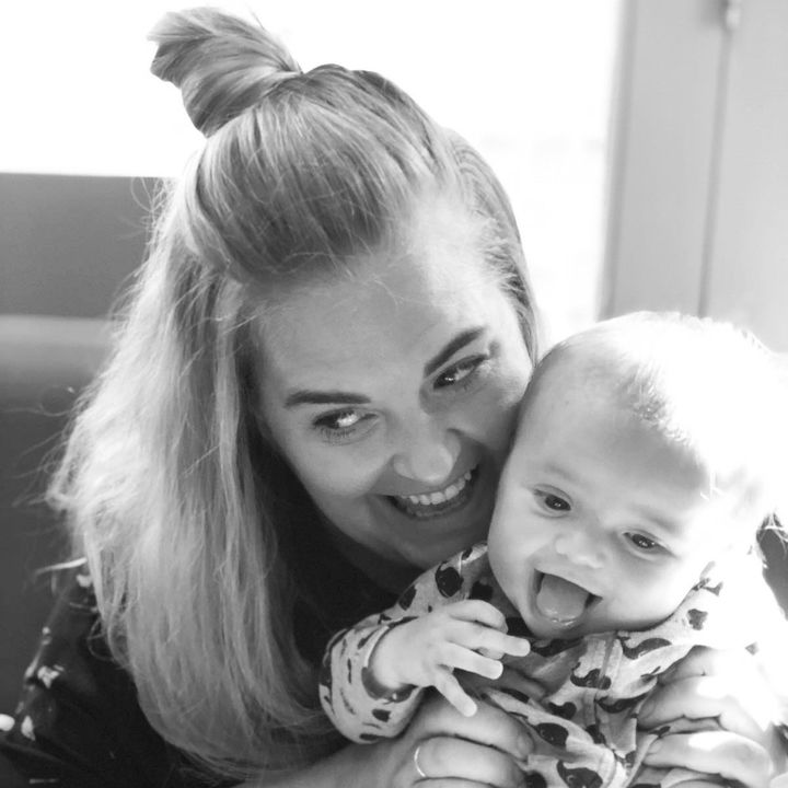 Liv Thorne and her son Herbert.