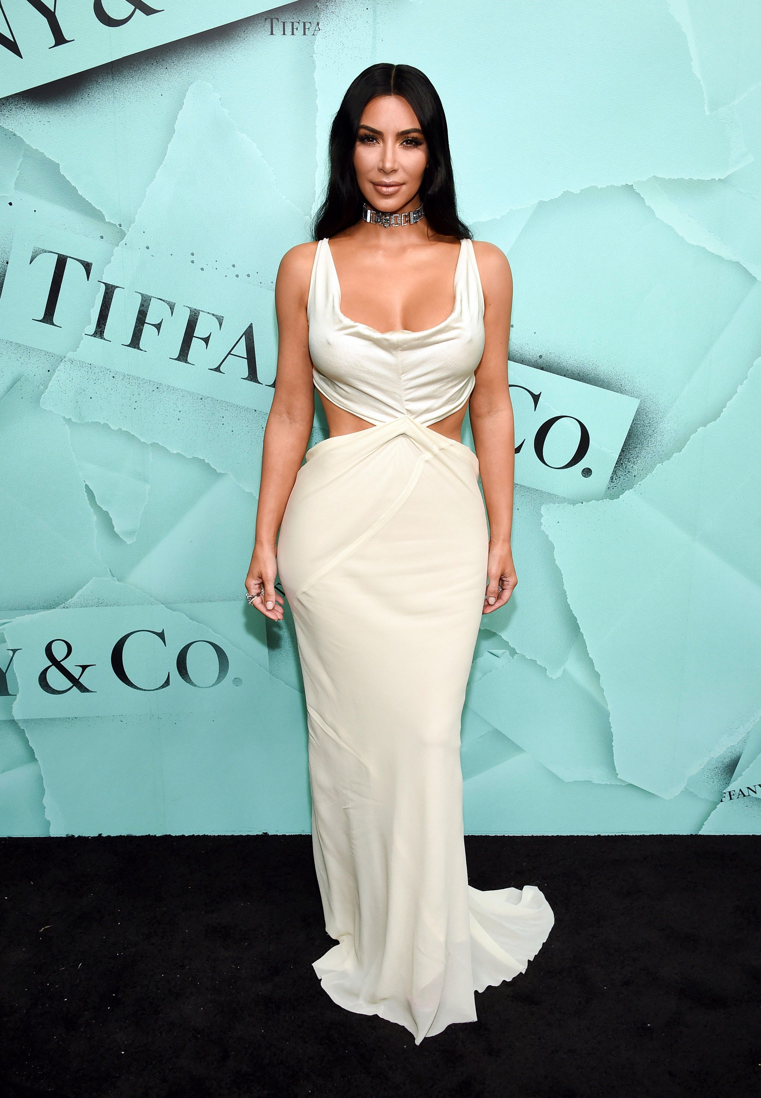 Kim Kardashian at a Tiffany & Co. event in October.
