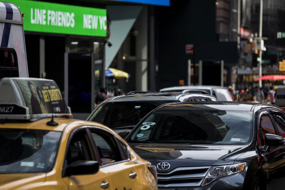 Lawmakers in New York City recently imposed a cap on ride-hailing vehicles.