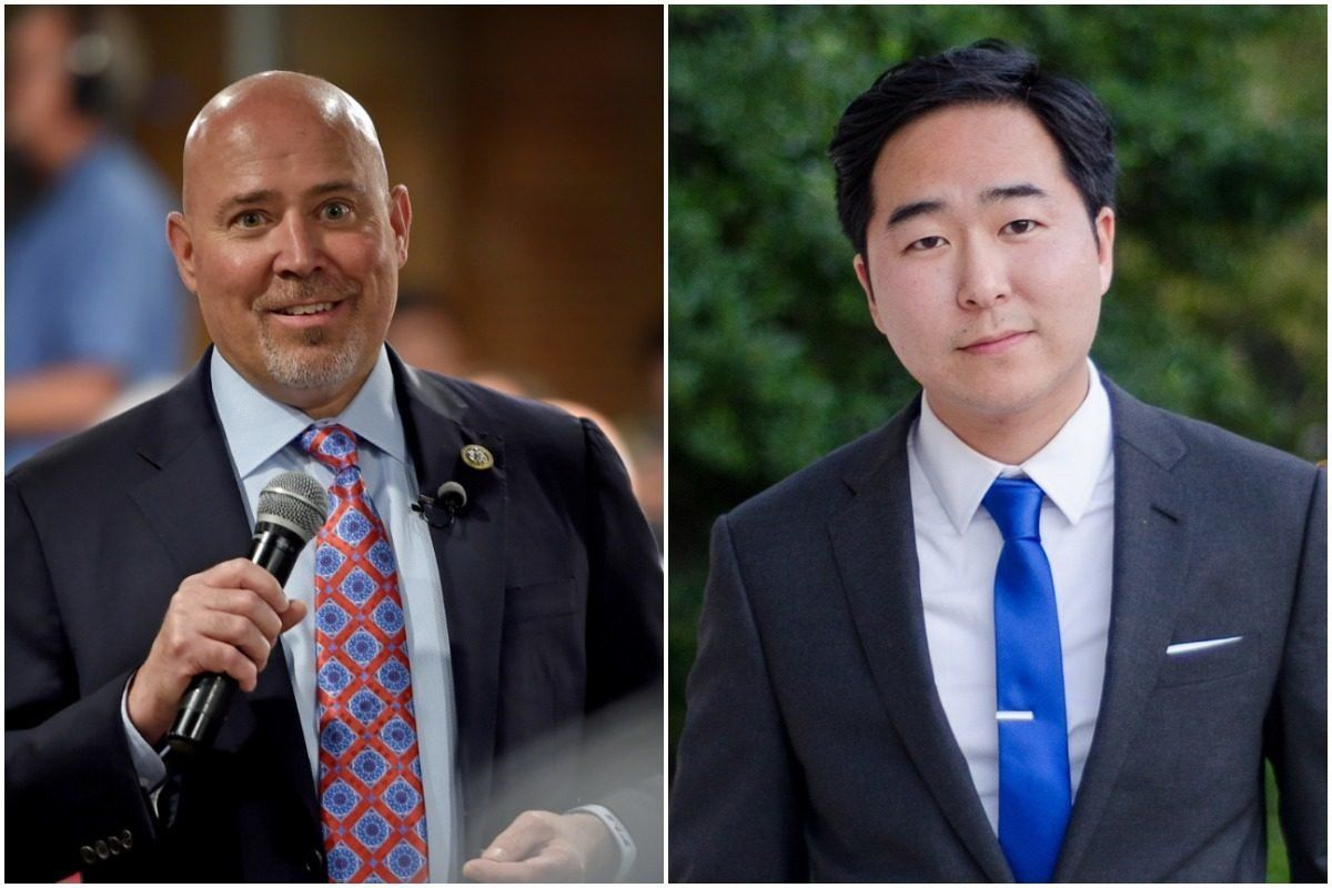 Rep. Tom MacArthur, left, an ally of President Donald Trump, is in a close race with Obama administration officialAndy