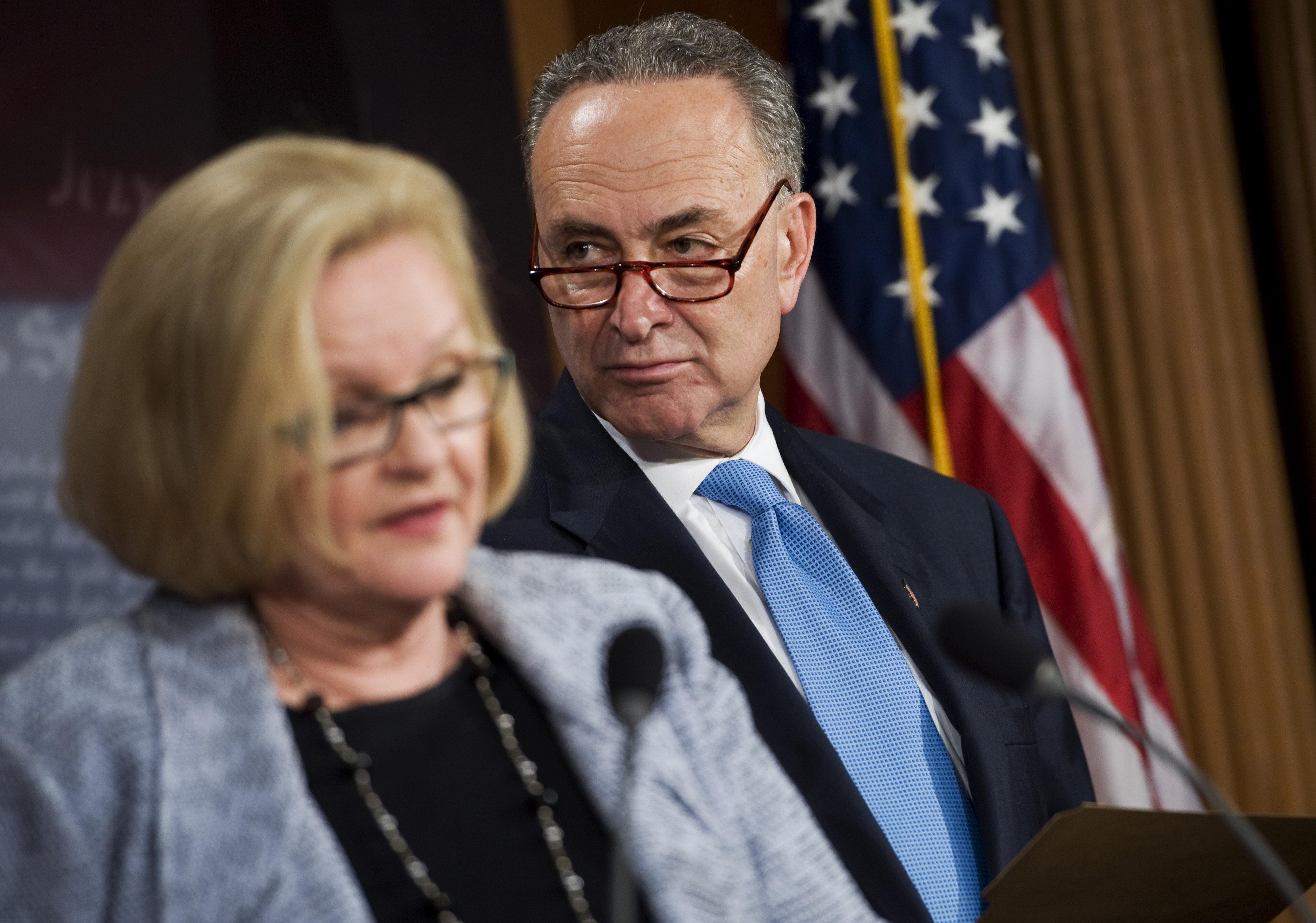 Democratic Sens. Claire McCaskill (Mo.) and Chuck Schumer (N.Y.).