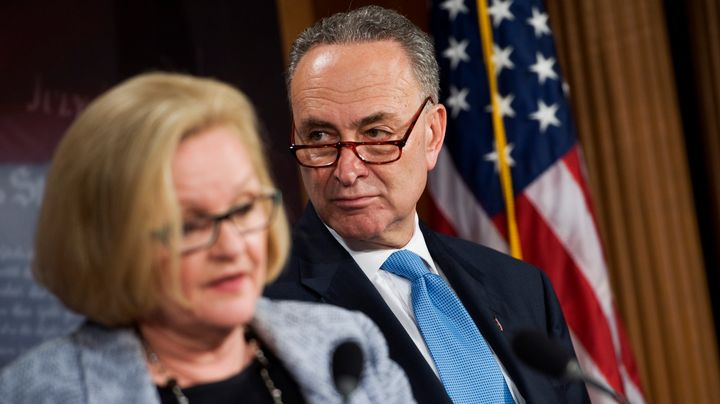 Democratic Sens. Claire McCaskill (Mo.) and Chuck Schumer (N.Y.).