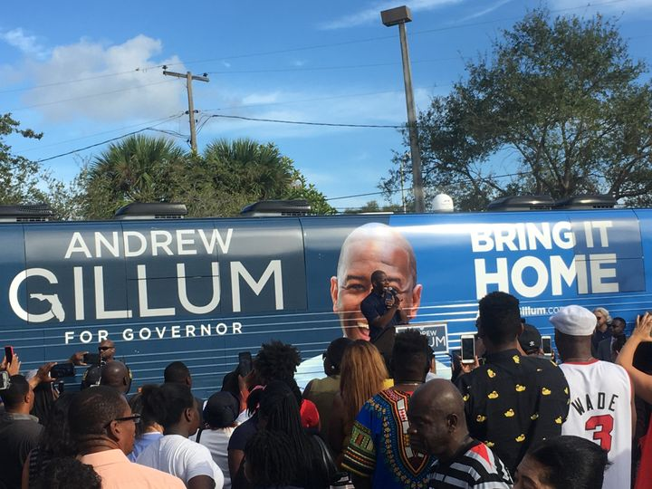 DemocraticFlorida gubernatorial candidate Andrew Gillum tells his supporters that the best way to respond to his GOP op