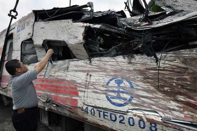 대만 최악 열차사고 낸 일제 철도차량에 설계 착오가 있는 것으로