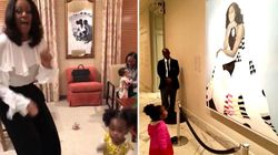 Toddler In Awe Of Michelle Obama's Portrait Dressed Up As Her Idol (And Nailed