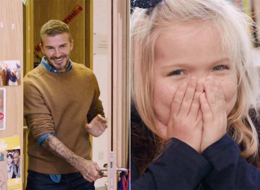Watch The Adorable Moment David Beckham Surprises Pride Of Britain Winner Ella