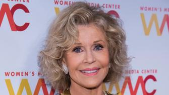 Jane Fonda attends the 2018 Women's Media Awards, hosted by the Women's Media Center, at Capitale on Thursday, Nov. 1, 2018, in New York. (Photo by Charles Sykes/Invision/AP)
