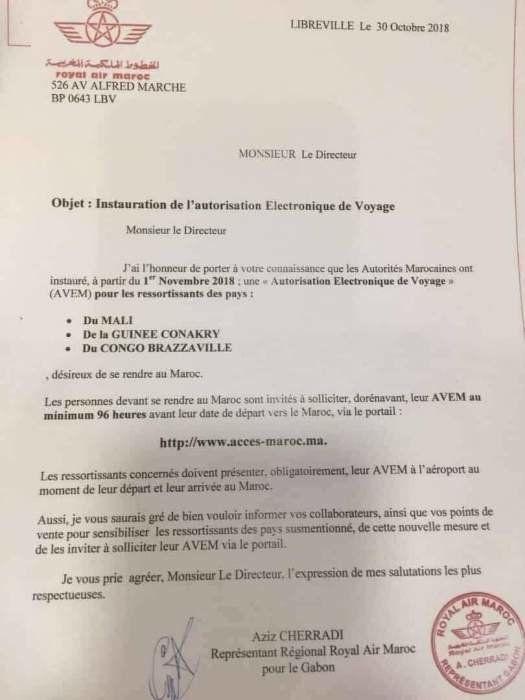 La demande d'autorisation d'accès au Maroc est encore en phase d'essai, selon le ministère des affaires