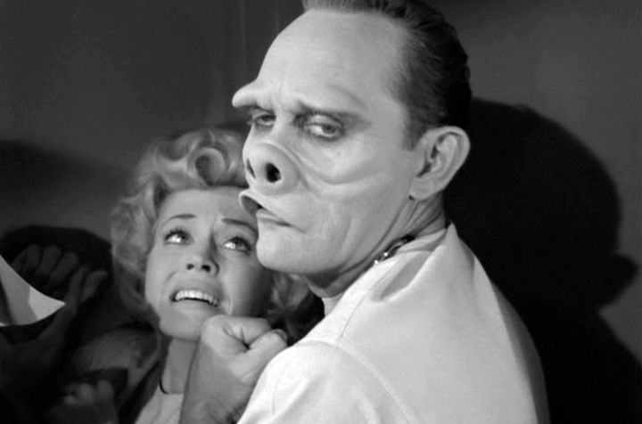 """The nurse's pig snout prosthetic from """"The Twilight Zone"""" could be yours."""