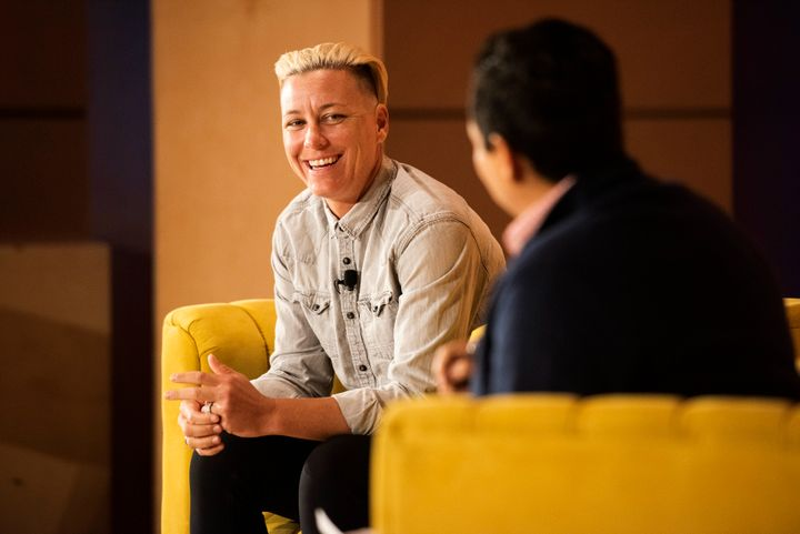 Soccer star Abby Wambach chats about parenting at HuffPost's How To Raise A Kid conference with editor-in-chief Lydia Polgreen.