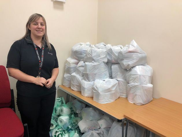 Claire Bowerman, community centre co-ordinator, has seen a huge increase in demand for food
