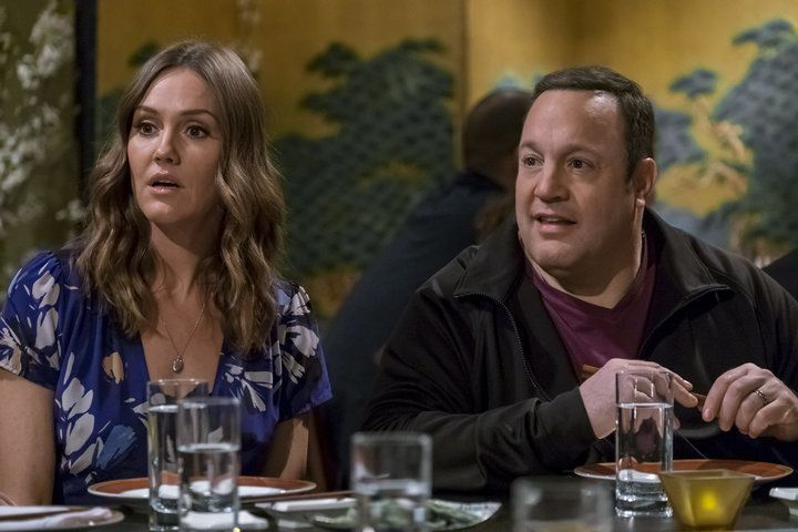"""Erinn Hayes and Kevin James in the first season of """"Kevin Can Wait."""""""