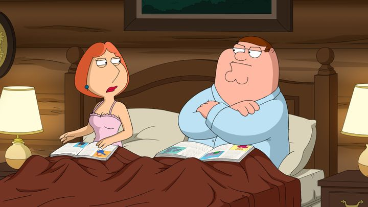 """Peter and Lois Griffin in """"Family Guy."""""""