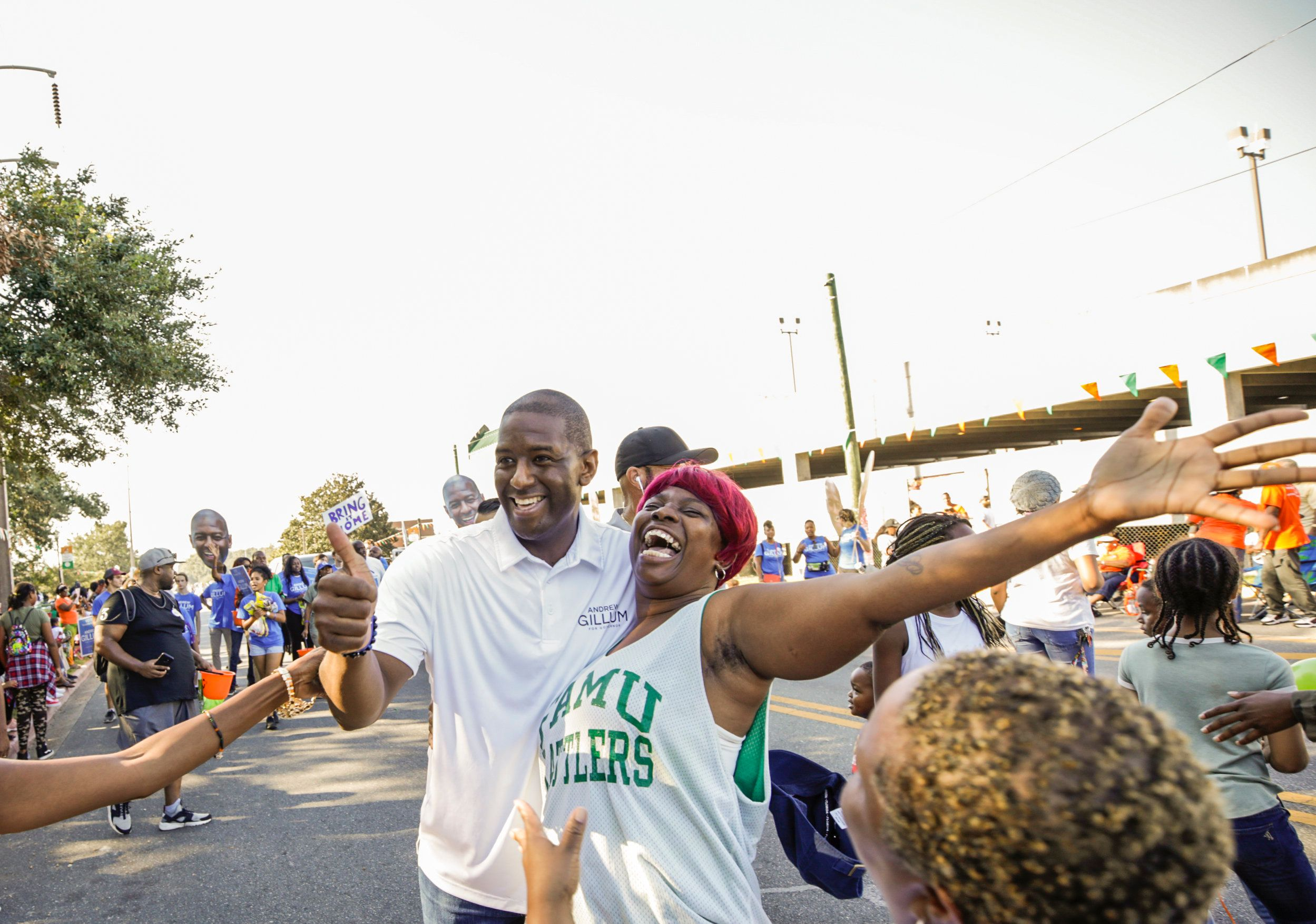 """It was energizing, and I'm honored that somebody wants to take a picture,"" Gillum said. ""It's"