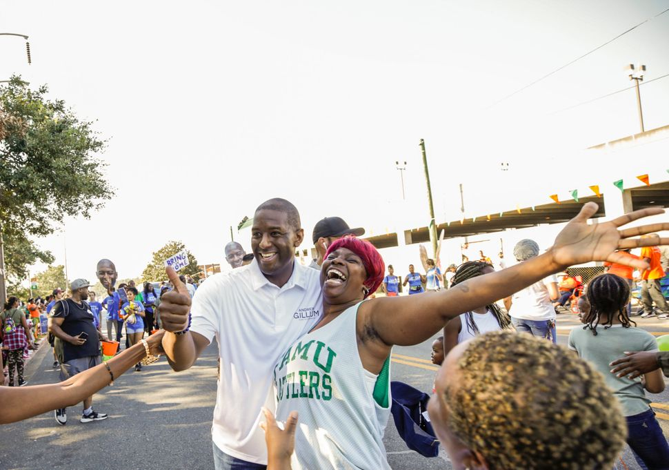 """It was energizing, and I'm honored that somebody wants to take a picture,"" Gillum..."
