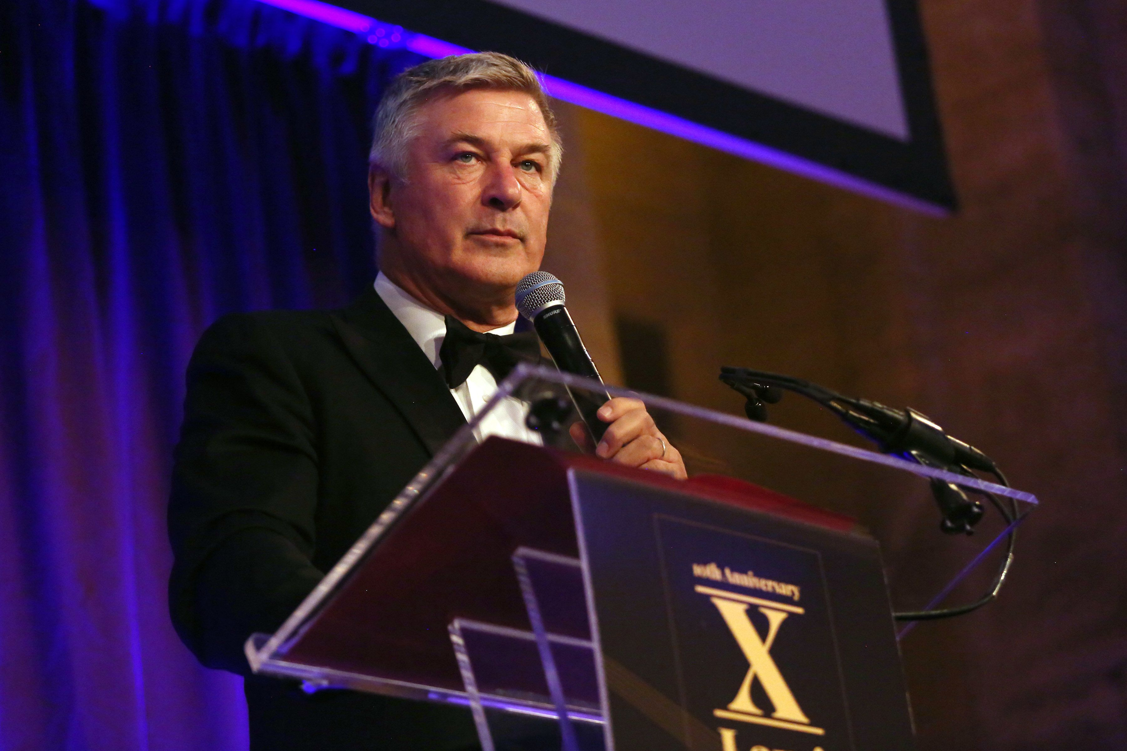 NEW YORK, NY - OCTOBER 10:  Alec Baldwin speaks at the LLIMF 10th Anniversary Gala Dinner at Cipriani 25 Broadway on October 10, 2018 in New York City.  (Photo by Krista Kennell/Patrick McMullan via Getty Images)
