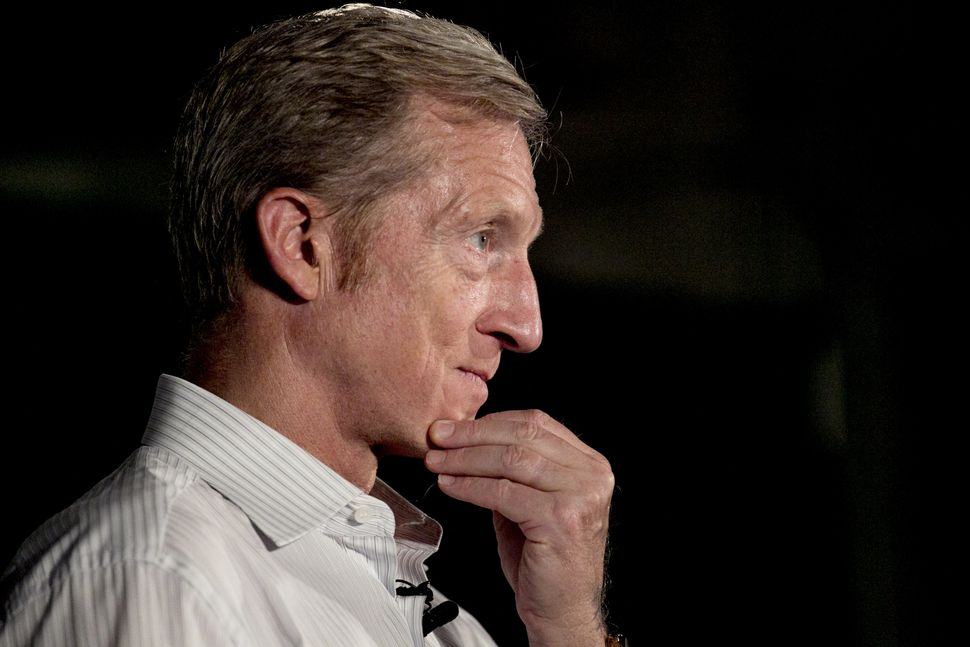 Tom Steyer, co-founder of NextGen, is considering a run for president himself in 2020.