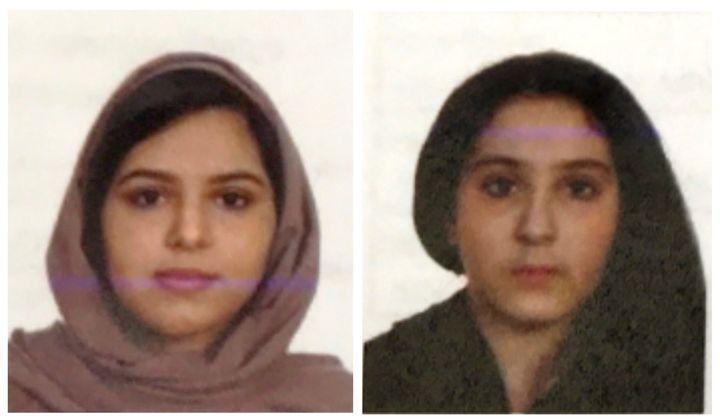 Passport photos ofTala and Rotana Farea, found dead in New York.