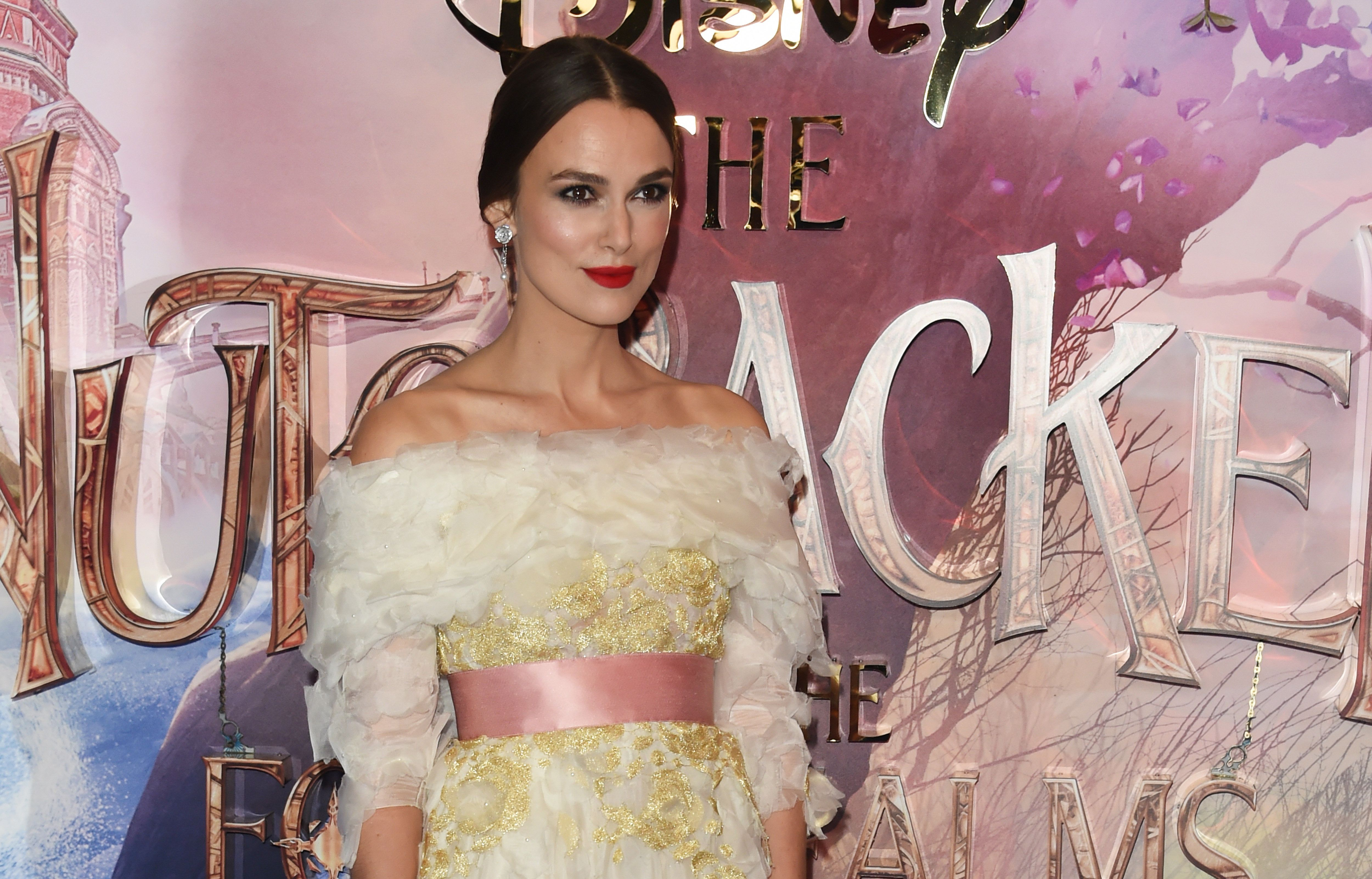 LONDON, ENGLAND - NOVEMBER 01:   Keira Knightley attends the European Premiere of Disney's 'The Nutcracker And The Four Realms' at Vue Westfield on November 1, 2018 in London, England.  (Photo by David M. Benett/Dave Benett/WireImage)