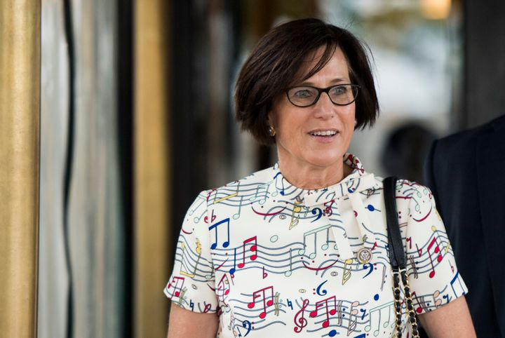 Rep. Mimi Walters (R-Calif.) leaves a House Republican Caucus meeting in May 2018.