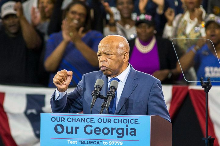 Rep. John Lewis (D-Ga.) campaigned for Stacey Abrams, Democratic nominee for governor of Georgia.