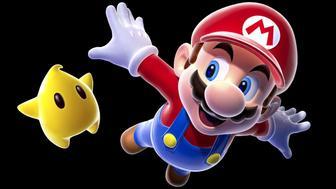 Mario, Nintendo video game icon, graphic element on black