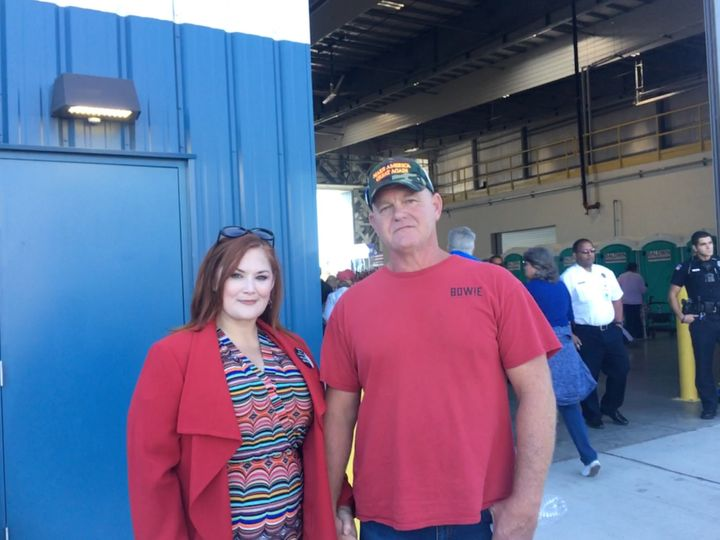 Sharon and Pete Sandifer drove two and half hours from Hattiesburg, Mississippi, to see Trump speak in Pensacola Saturday nig