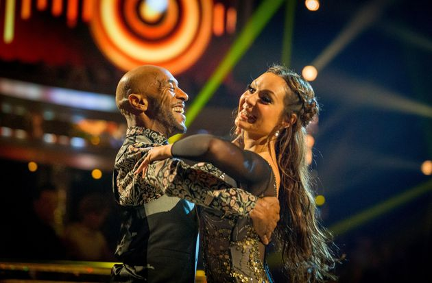 Danny and Amy performing the Quickstep last