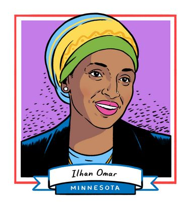 Ilhan Omar, 37, will be the new House member for Minnesota's 5th Congressional District. The state representative joins Rashi...