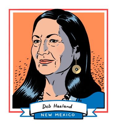 Democrat Deb Haaland won her race in New Mexico's 1st Congressional District and joins Democrat Sharice Davids of Kansa...
