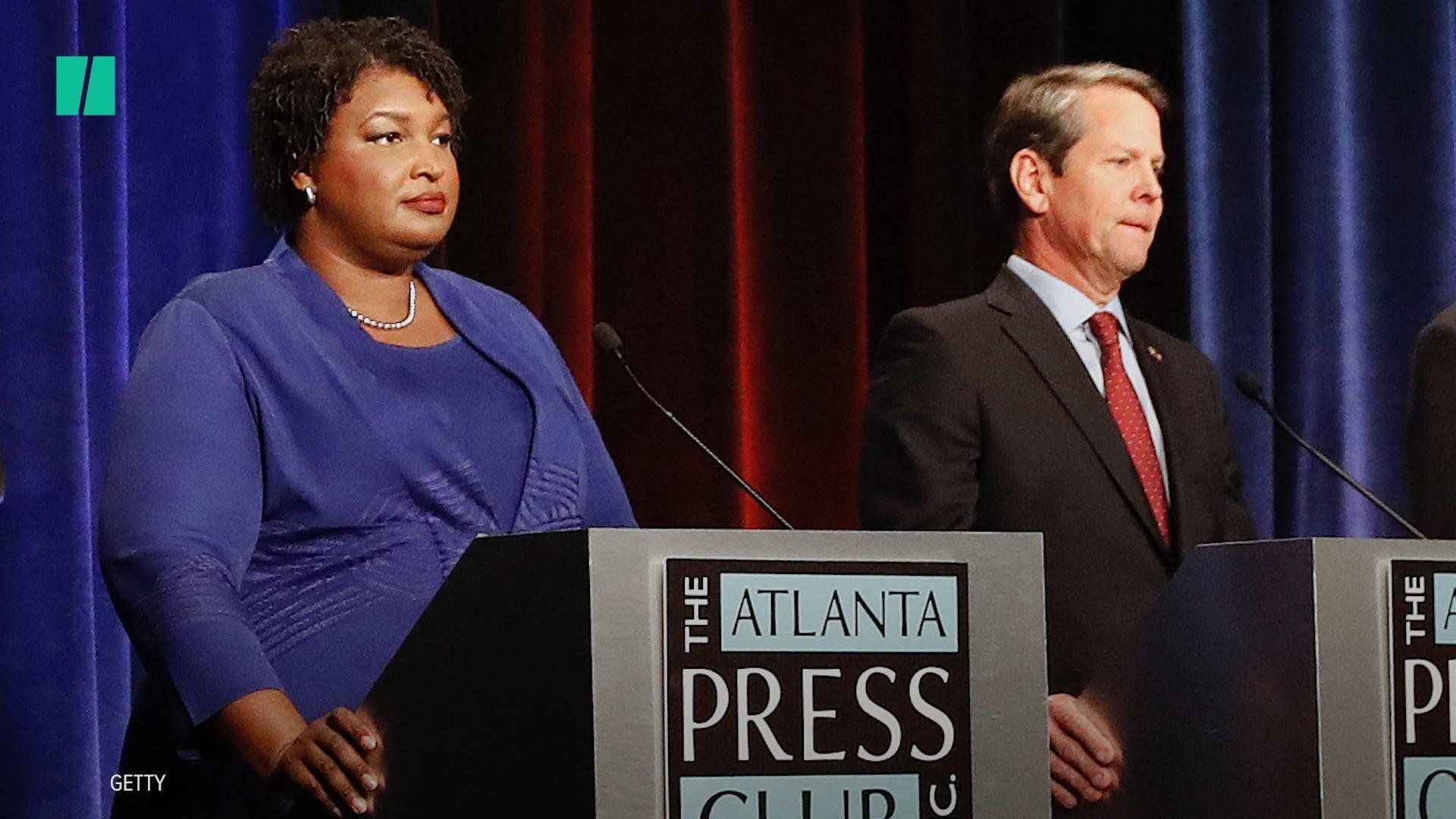 Stacey Abrams slams Brian Kemp after he accuses Democrats of voter 'hack'