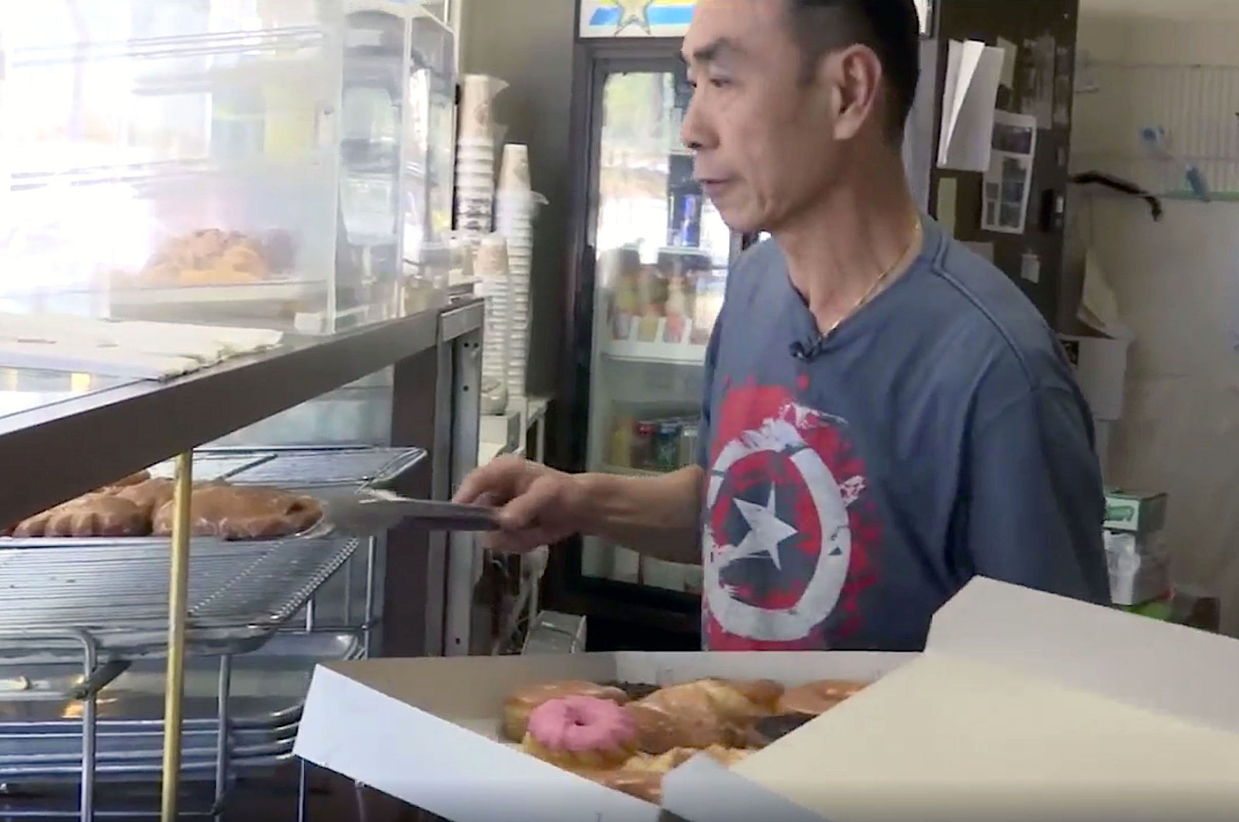Owner of Donut City, John Chhan