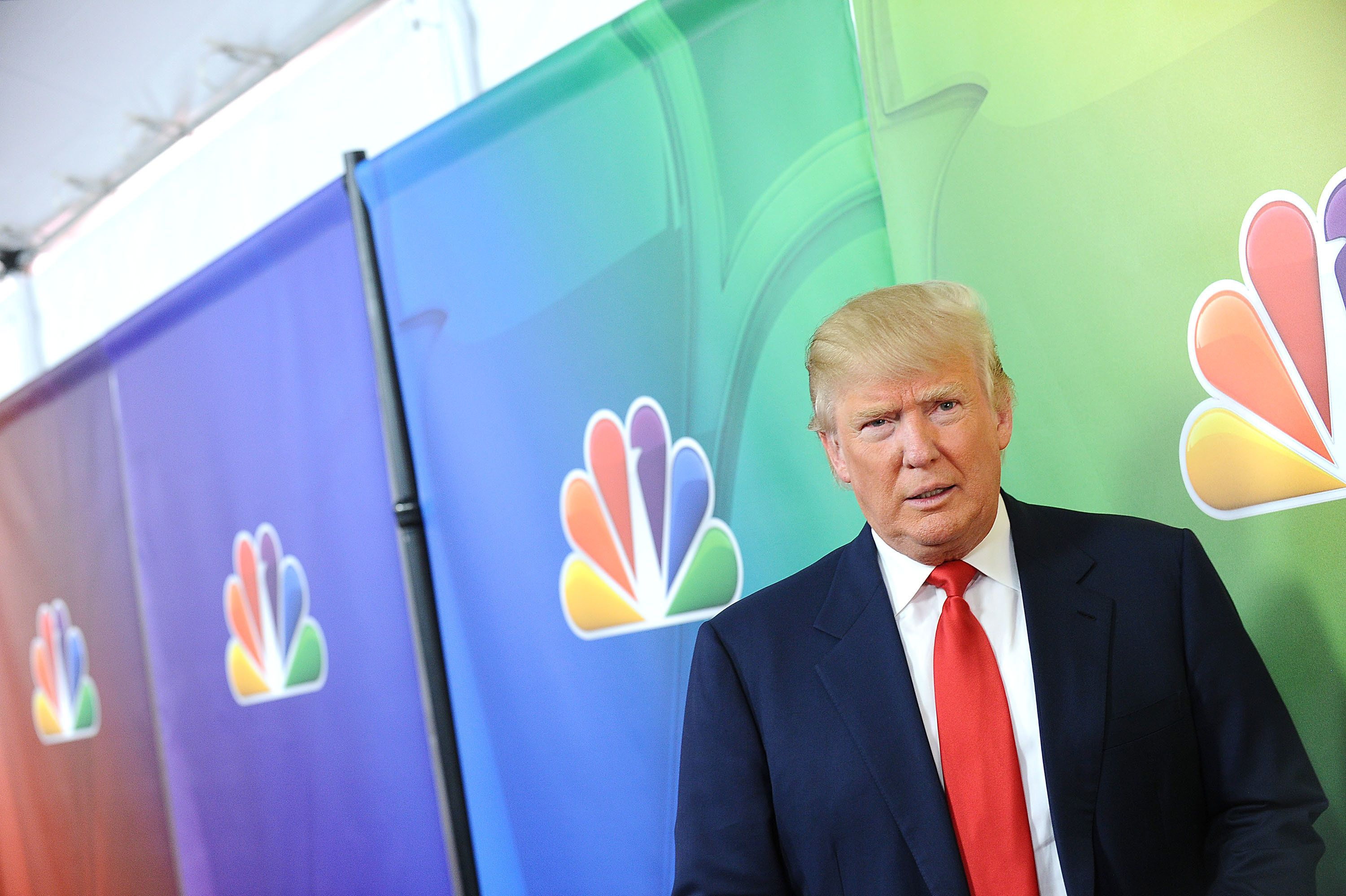 PASADENA, CA - JANUARY 16:  Donald Trump attends the NBCUniversal 2015 press tour at The Langham Huntington Hotel and Spa on January 16, 2015 in Pasadena, California.  (Photo by Jason LaVeris/FilmMagic)